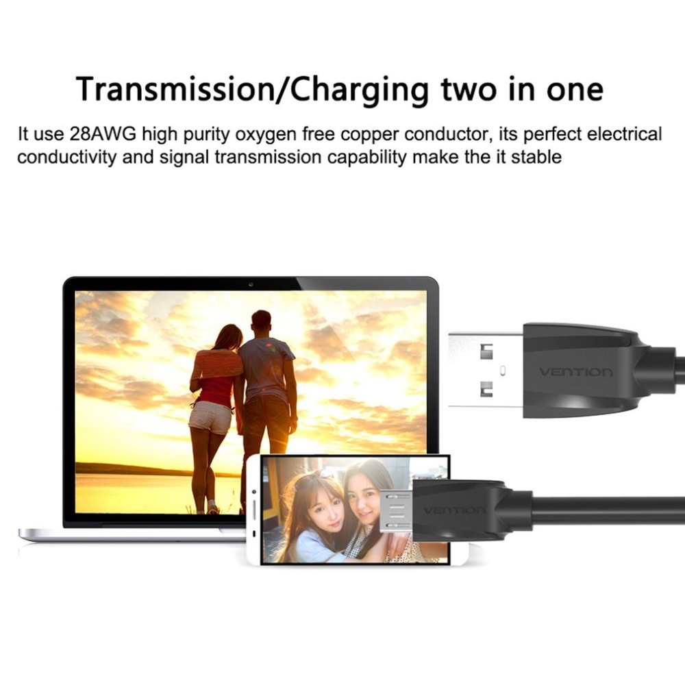 VENTION Micro USB Cable 2 in 1 charger USB Type C Cable for Macbook Nokia N1 One Plus 2 Nexus 5X 6P Meizu Pro 5 For Xiaomi Phone