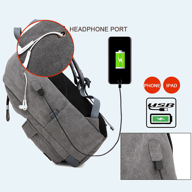 Male Canvas Backpack College Student School Backpack Bags for Teenagers Laptop Mochila Casual Women Rucksack Travel Daypack 2017 in Backpacks from Luggage Bags