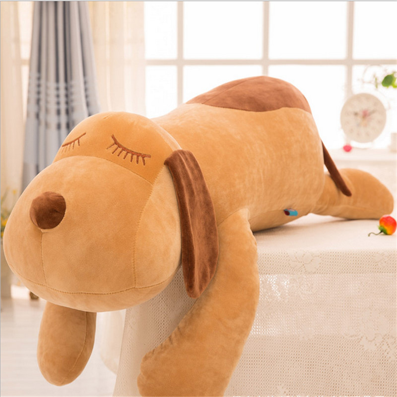 120cm Creative Plush Toy Dog Doll New feather Cotton Bulk Head Dog Toy Dog Pillow for Christmas New Year Gift Juguetes Brinquedo 75cm super cute plush toy dog lipstick dog pillow doll lying prone as gifts to friends and children with down cotton