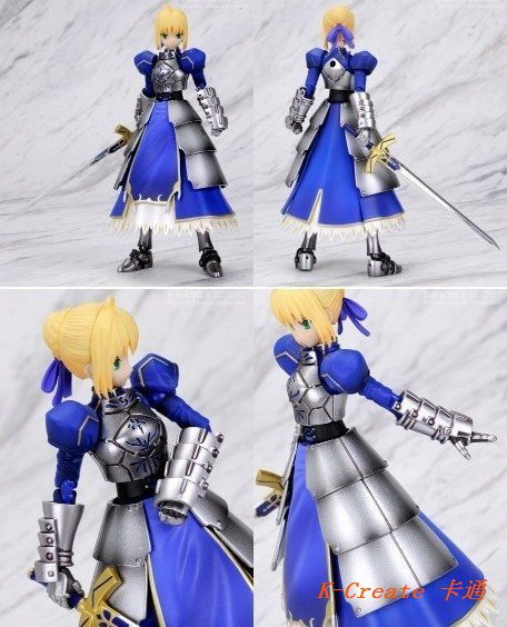 ФОТО Free shipping 1carton (30pcs/carton) Fate/Stay Night removable Saber pvc figure toy tall 13cm.1carton new Saber doll supply