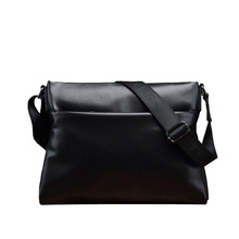 THEEKS New Fashion Men Bag Genuine Leather High Quality male messenger Bags Casual Business mens shoulder