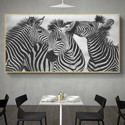 "Photos XXL Art sur toile 76/"" X 31/"" encadrée ART motif zèbre noir blanc 5104"