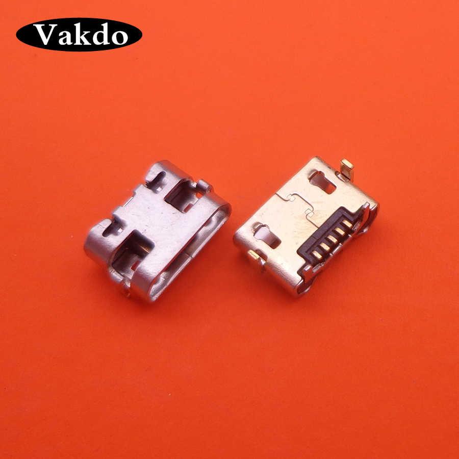Untuk Alcatel Pop 2 OT-5042 Mini Jack Micro USB DC Pengisian Port Konektor Soket Steker Listrik Dermaga 5 Pin Pengganti perbaikan Bagian
