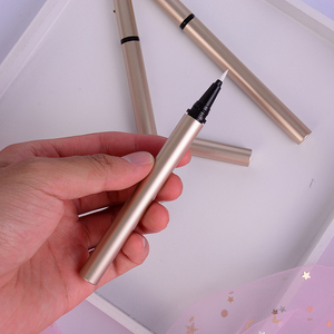 One Piece Tube Empty Eyeliner Transparent Suqare Cosmetic Container Liquid Eyeliner Bottle With Brush Cap
