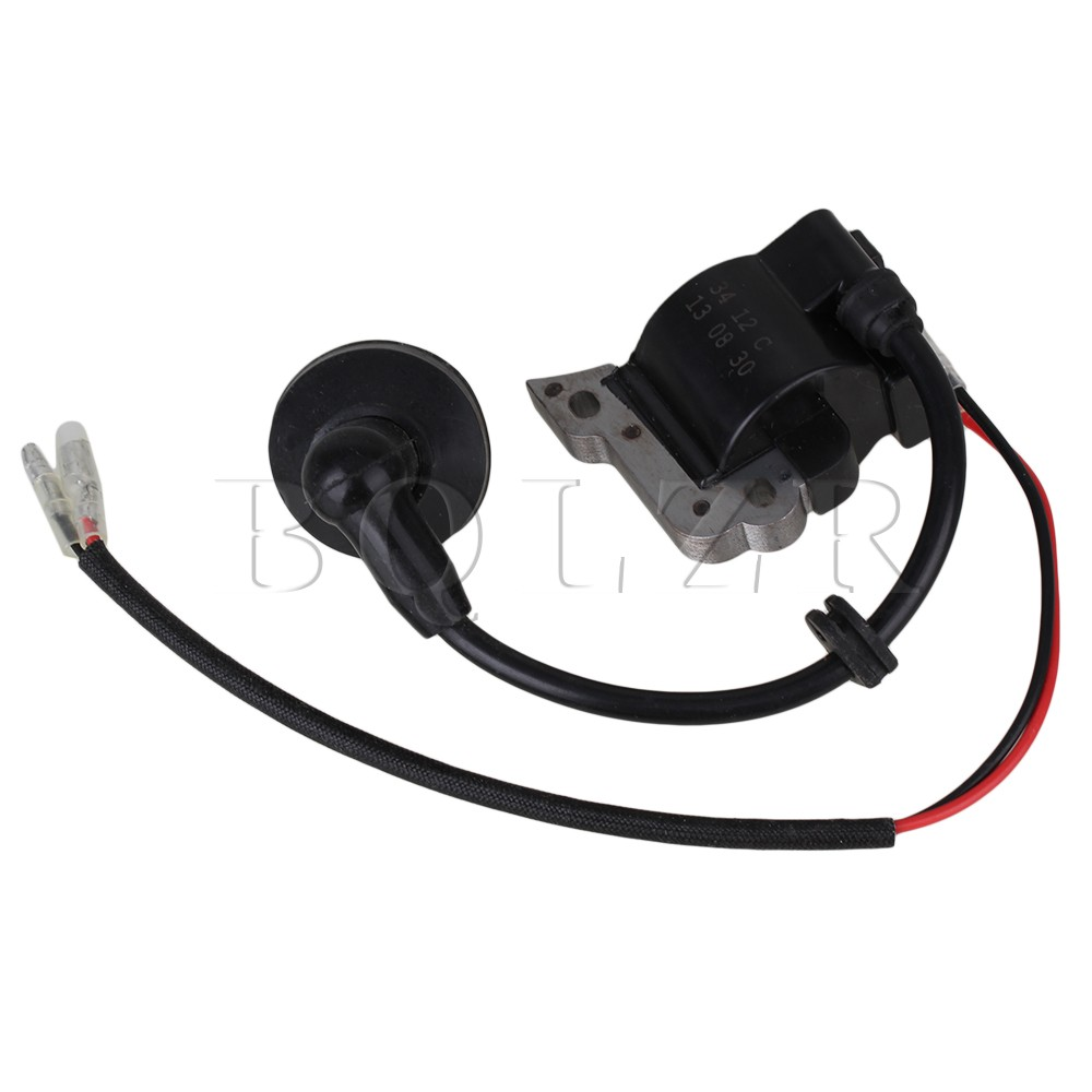 BQLZR Ignition Coil Magneto Parts for 32 Lawn Trimmer Engine Motor Black