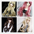 Free Shipping,sd 1/3 bjd wig wave curly hair 4 colors