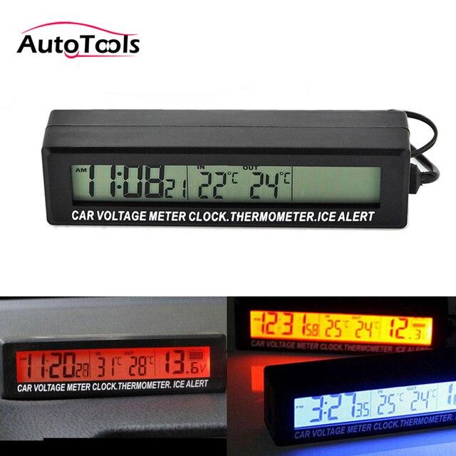 7ec3714b3ad 3 em 1 bloqueio do carro com Tela de LCD Relógio Termômetro Voltímetro  Monitor de Temperatura