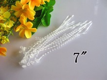 FREE SHIPPING (500 pieces/lot) 7 White Plastic Adjustable Security Beaded Loop Barb Fastener Tag Tie lock