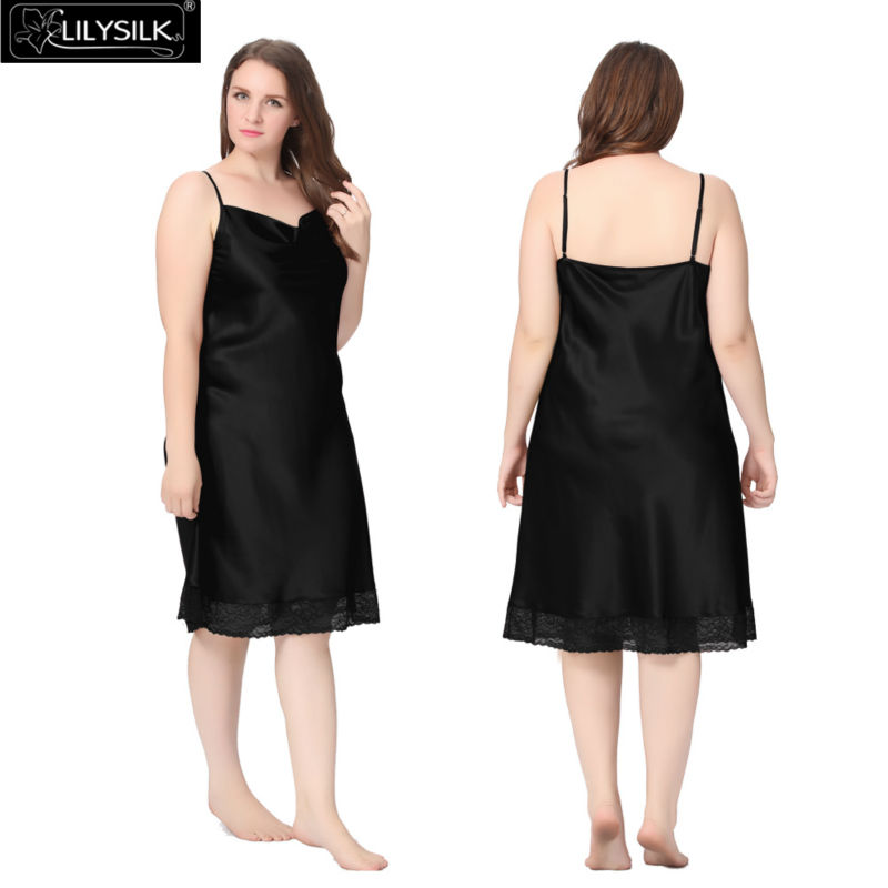 1000-black-22-momme-lacey-hem-mid-length-silk-nightgown-plus-size-01