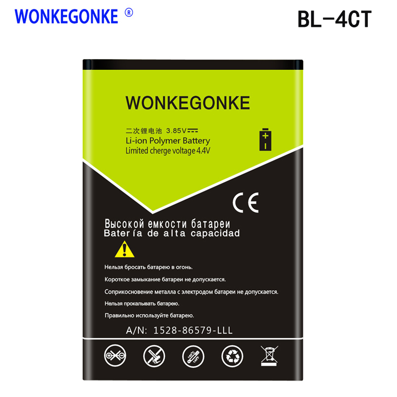 WONKEGONKE 1500mAh BL-4CT BL4CT Li-ion Phone <font><b>Battery</b></font> for <font><b>Nokia</b></font> <font><b>5310</b></font> 5630XM 7212C 7210C 6600F image