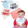Babero del bebé del triángulo del algodón Kids Baberos Saliva toalla impermeable Baberos Bandana para bebés niños alimentación del recién nacido papá de la mama Baberos