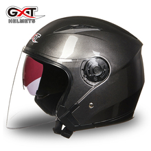 Motorcycle Helmet Motorcycle Scooter Helmet GXT Moto Casco Open Face Summer Half Face Motorcycle Helmet Dual Lens 512