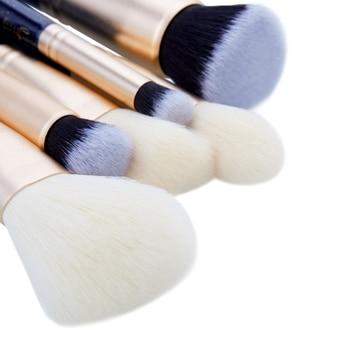 Jessup 6PCS Prussian Blue / Golden Sands Makeup brushes set LARGE POWDER FOUNDATION CONCEALER for face Make up brush 4