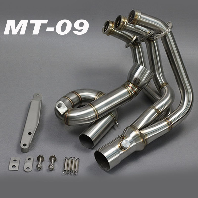 MT09 Motorcycle Exhaust Muffler Modified Scooter Front Pipe Slip-On Muffler Exhaust For YAMAHA MT-09 2014 2015 2016 2017
