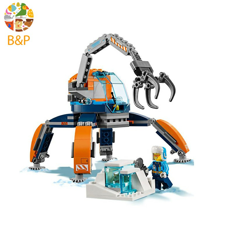 02108 224pcs CITY Series Arctic Ice Crawler Model Building Block Brick Quick assembly Toys Boy's Gift compatible 60192 gastrorag czg ef 131