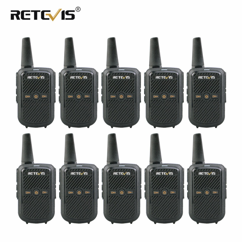 10 pcs Retevis RT15 Walkie Talkies Mini Two Way Radio 2W UHF VOX Scrambler USB Charge
