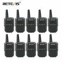 10 pcs Retevis RT15 Walkie Talkies Mini Two Way Radio 2W UHF VOX Scrambler USB Charge Hotel/Restaurant Talkie Walkie Transceiver