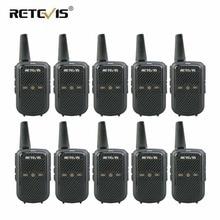 10 шт. Retevis RT15 рации Мини двухстороннее радио 2 Вт УВЧ; Голосовое управление скремблер USB зарядка отель/Ресторан радио-антенна трансивер