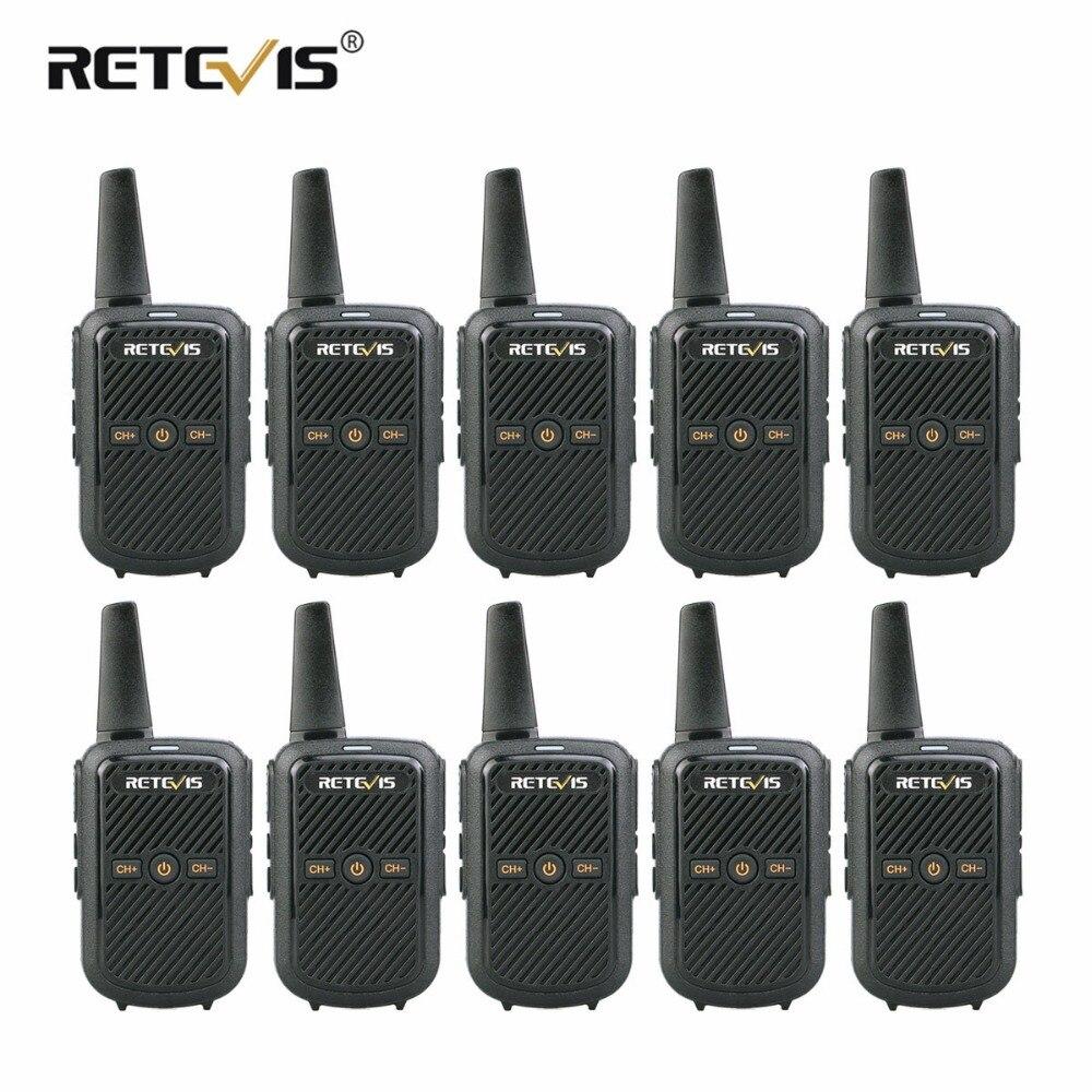 10 pièces Retevis RT15 talkies-walkies Mini Two Way Radio 2 W UHF VOX Scrambler USB Charge Hôtel/Restaurant Walkie talkie Émetteur-Récepteur
