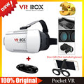 Google Cardboard VR BOX Virtual Reality Glasses Goggles VR Helmet + Smart Bluetooth Wireless Mouse / Remote Control Gamepad