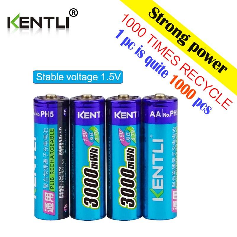 8 pièces 1.5 v 3000mWh pas d'effet mémoire aa rechargeable Li-polymère li-ion batterie lithium-polymère + 4 slots chargeur usb - 3