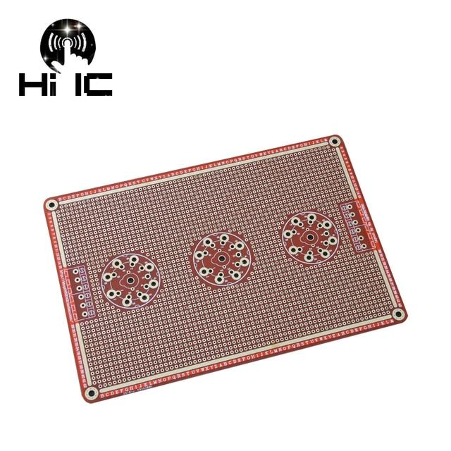 Prototype universel PCB pour 8 broches/9 broches Tube amplificateur préampli casque Valve Double face carte PCB