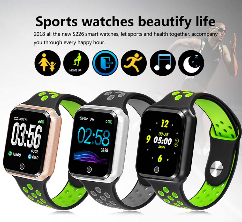 Smart Watch S226 Watches IP67 Waterproof Heart Rate Blood Pressure Bluetooth Smartwatch for Apple Android Phone PK IWO 8 Watch image