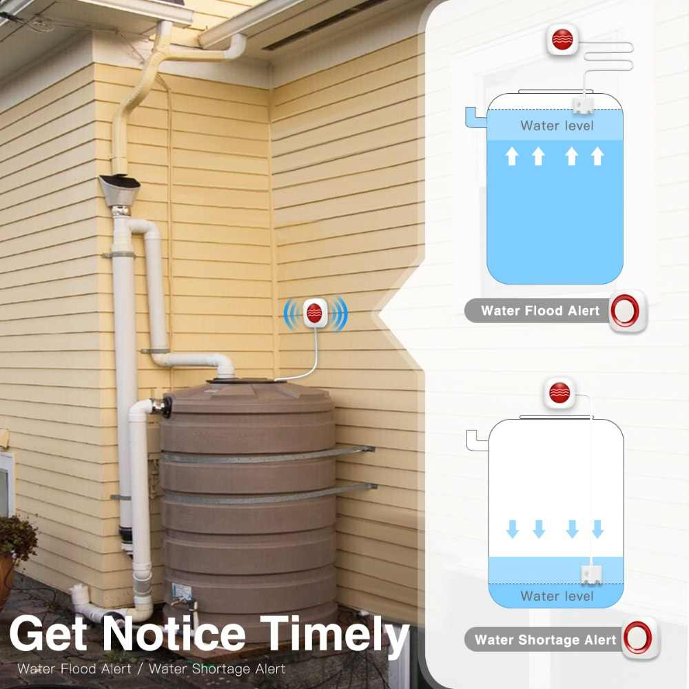 KOOCHUWAH スマートホーム漏水検知器水センサーワイヤレス SMS 通知の電話警告漏洩保護漏水に対する