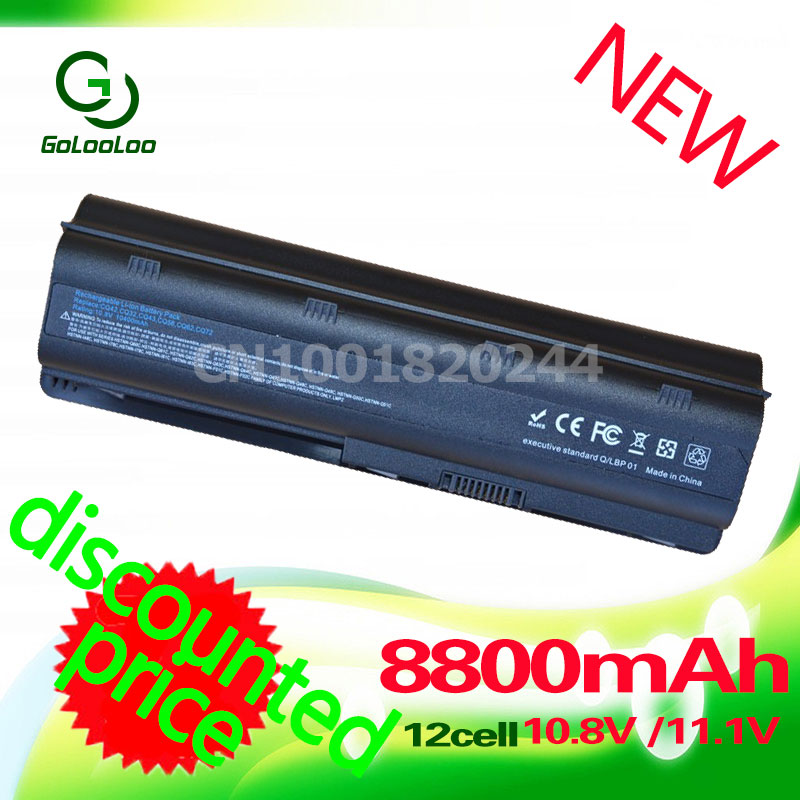 Golooloo 8800MAH 11.1V battery for HP PAVILION DM4 DV3 DV6 DV5 DV7 G32 G62 G42 G6 G7 CQ32 CQ42 CQ43 CQ56 CQ57 MU06 593553-001 5200mah dm4 laptop batteries for hp pavilion cq42 cq32 g42 cq43 g32 dv6 g4 g6 g7 batteries 593553 001 mu06