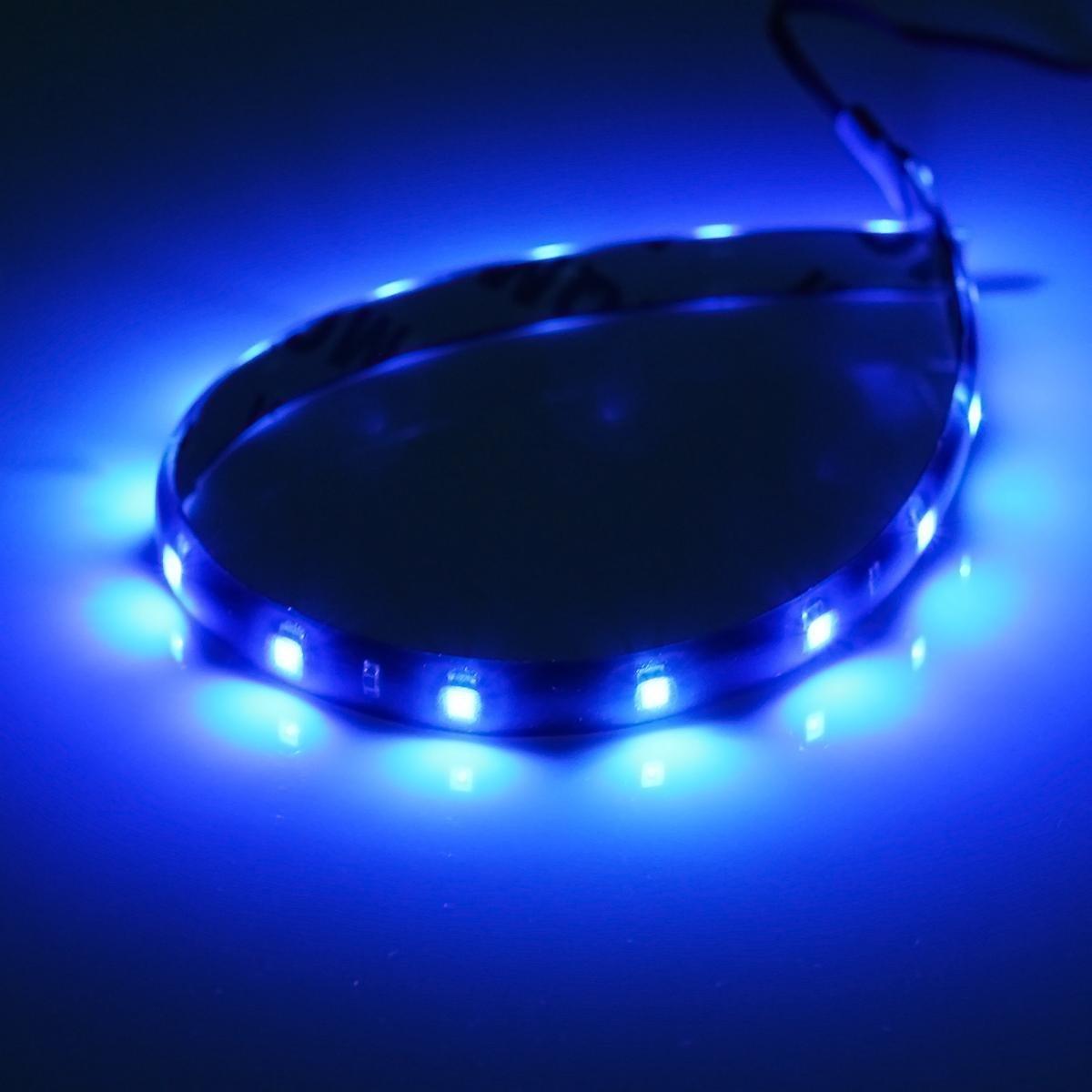 2pcs Car Auto Motorcycle Strip Lights 30CM Blue DC 12V 15 LED SMD  Waterproof Flexible Light Flexible Car LED Light Bulb In Headlight Bulbs  From Automobiles ...