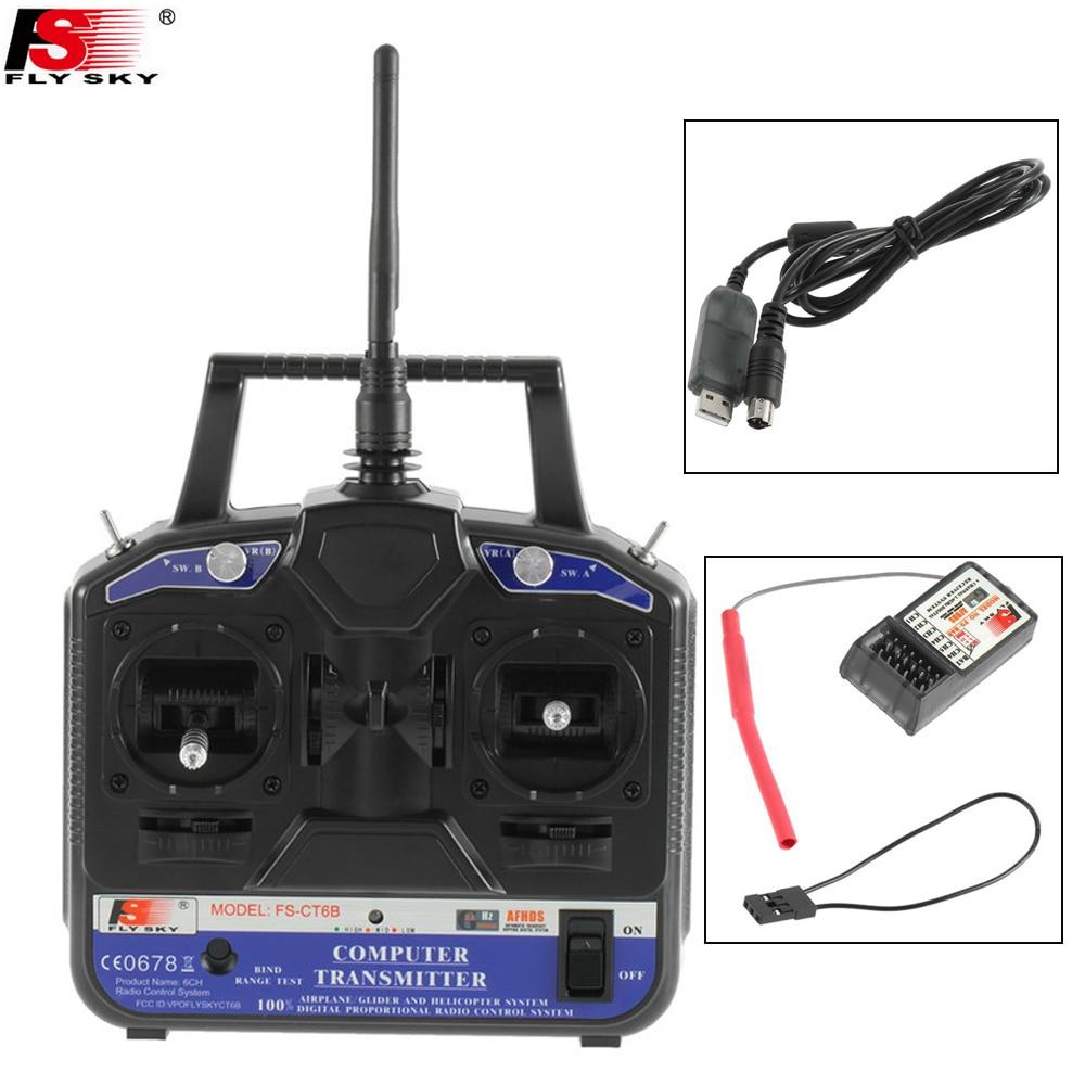 1set FlySky FS CT6B CT6B 2 4G 6CH Radio Transmitter FS R6B 6CH Receiver TX FS