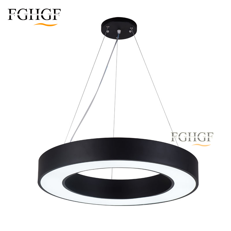 Modern LED Pendant Lights Round Circle Lighting Contracted luminaire Lustres Pendant Lamp for Dining Room Bedroom Restaurant Bar
