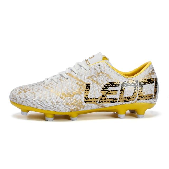 Для мужчин Обувь для мальчиков Дети Ботинки футбола открытый газон длинные шипы Бутсы бутсы leoci Обувь для футбола для наземных Zapatillas De Futbol
