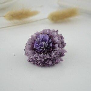 Image 5 - 100Pcs Silk Carnation Multilayer Artificial Flower cheap For Wedding Car Decoration DIY scrapbooking Fake Bridal wrist flower