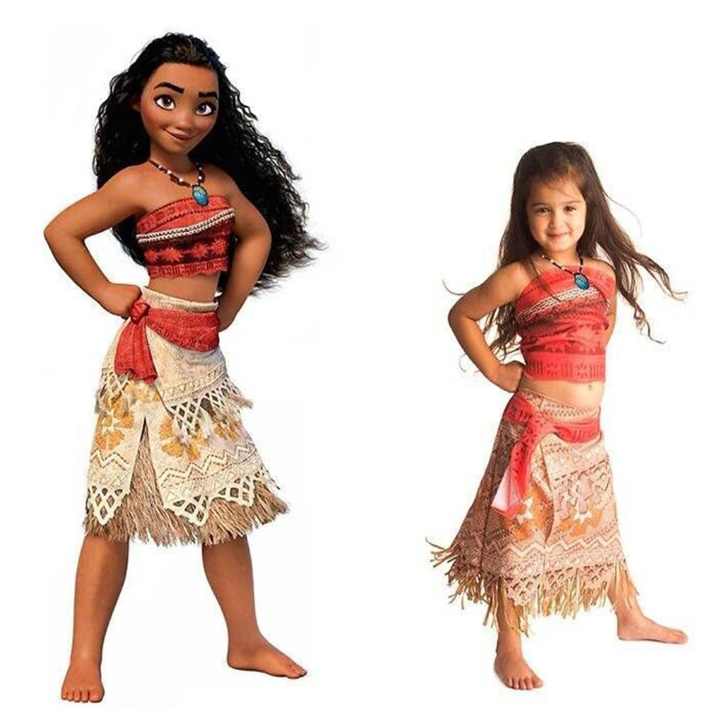 HTB12vCEXyLxK1Rjy0Ffq6zYdVXaJ - Adult Kids Princess Vaiana Moana Costume Dresses with Necklace Wig Women Girls Halloween Party Moana Dress Costumes Cosplay