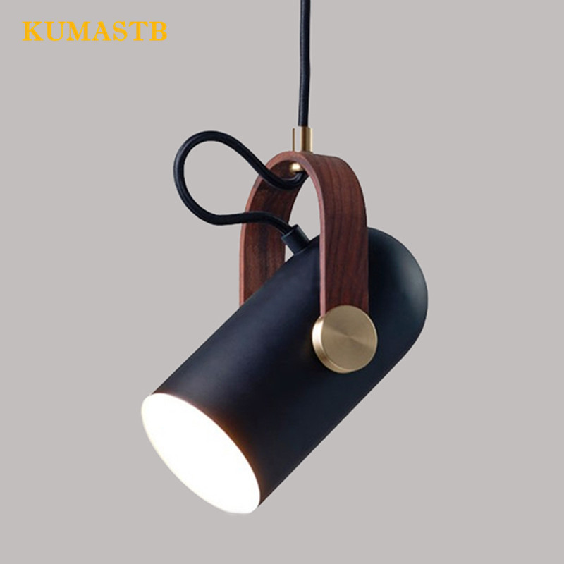 Nordic Bed Room Light Fitting Modern Brief Office Pendant Lamps Dinning Room Bar Single Head Hanging Light Fixtures