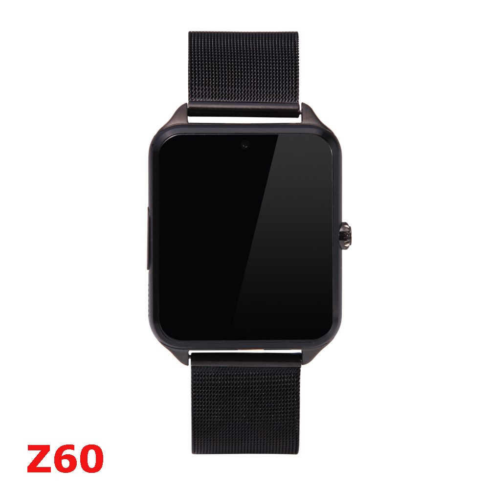 61A Mainboard Bluetooth Z60 Smart Watch Stainless Steel Smartwatch Support SIM TF Card Camera Call SMS