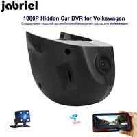 Jabriel Авто Wi Fi автомобильный dvr HD 1080 P вождение автомобиля регистраторы Скрытая заднего вида регистраторы автомобиля камера для 2015 2016 Volkswagen Го