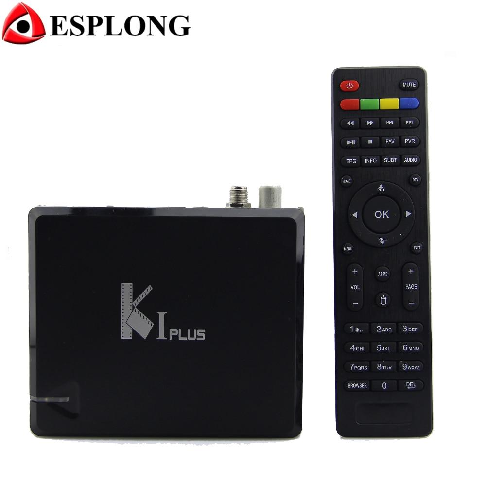 KI PLUS DVB-T2 DVB-S2 Android 7.1 TV BOX Amlogic S905 Quad Core 1GB 8GB 64bit 4K 3D Wifi Media Player Support Miracast DLNA s905 t9s plus android tv box amlogic quad core 2g 16g 2 4 ghz android 5 1 h 265 hdmi 2 0 miracast dlna smart tv caja