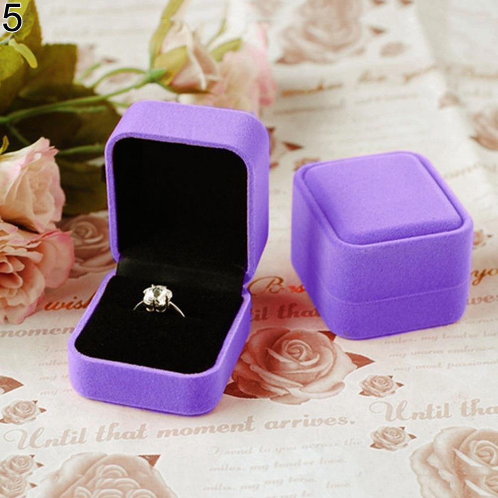 Christmas Jewelry Earrings Ring Display Storage Organizer Square Lid Open Box Case Valentine New Year Gifts Alibaba Express Hot