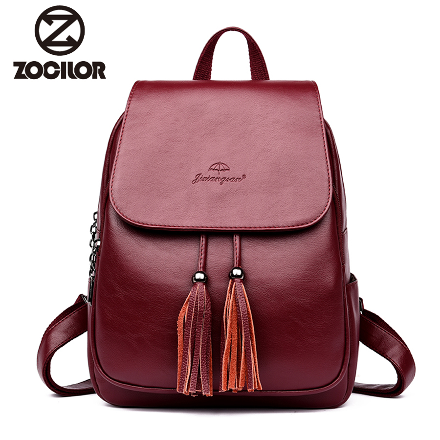 Fashion Women Backpacks Women's Leather Backpacks Female School Backpack Women Shoulder Bags For Teenage Girls Travel Back