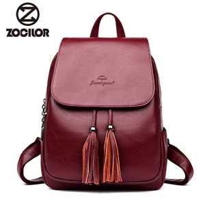 Fashion2018 Women Backpacks Women's Leather Backpacks Female school backpack women Shoulder bags for teenage girls Travel Back(China)