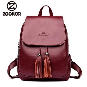 Fashion2018 Women Backpacks Women's Leather Backpacks Female school backpack women Shoulder bags for teenage girls Travel Back(China)
