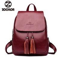Fashion2018 Women Backpacks Women's Leather Backpacks Female school backpack women Shoulder bags for teenage girls Travel Back