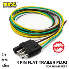 TIROL 4-Way Flat Trailer Wire Harness Extension Connector Plug with 36 inch Cable Length End Connector T24509a Free Shipping