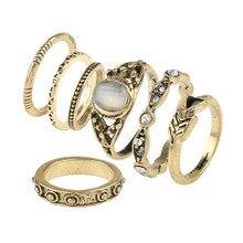Антикварное кольцо MIDI 7pcs