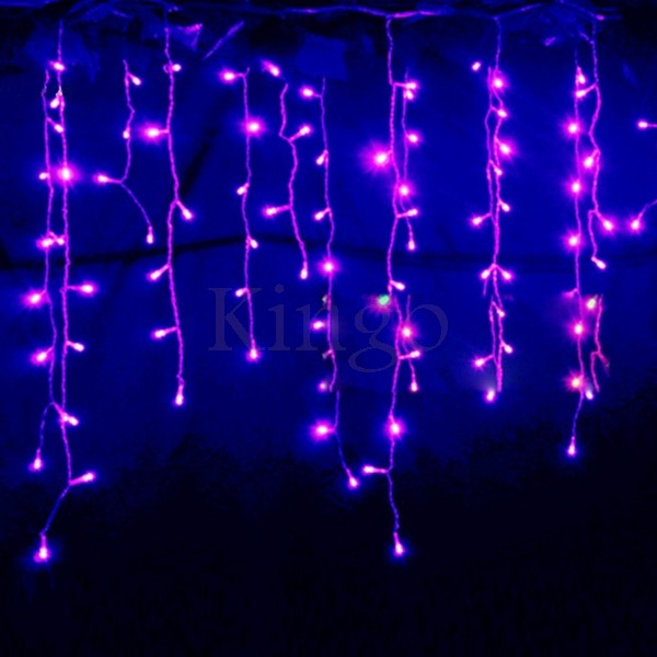 Curtain Icicle Lights String Fairy Light : Connectable 3.5M 96 led curtain icicle string fairy lights Christmas lamps Icicle Lights Xmas ...
