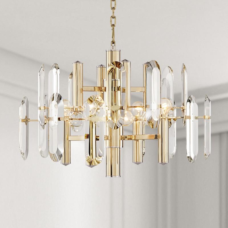 Lumină de pandantiv de cristal de lux Lampa suspendată cu cristale - Iluminatul interior - Fotografie 6