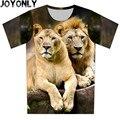 Nuevo 2016 Verano de Los Niños T Shirt 3D Animal Print Lion Camiseta Ropa de Marca de Manga corta Camiseta Ocasional Tops Boy Ropa de La Muchacha A116