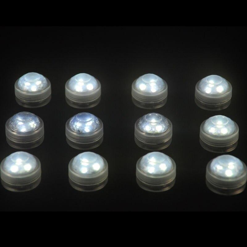 10pcs Vjenčanje dekoracija Vodootporan potopne LED stranka čaj Mini - Rasvjeta za odmor - Foto 4